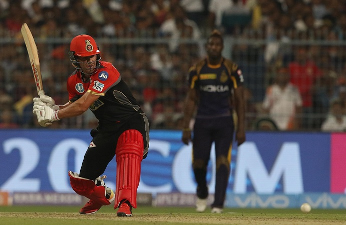 KKR set 177 after AB de Villiers blitzde Villiers