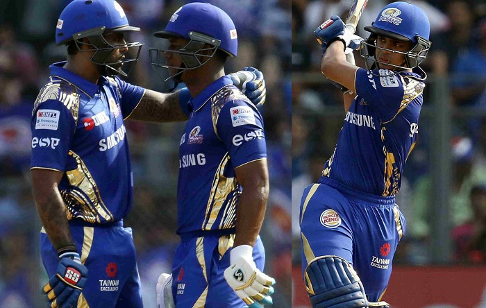First time Mumbai Indians' top-3 have scored 40+ runs in a match