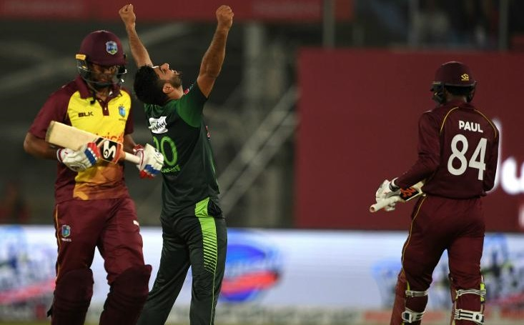 West indies bowled out for 60 against Pakistan in first t20