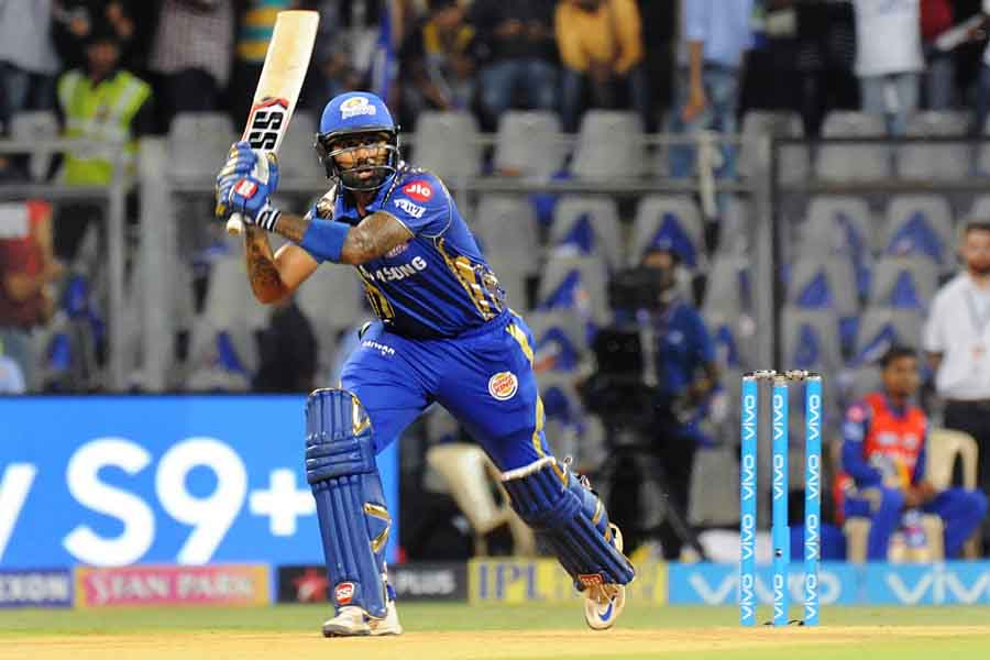 Mumbai Indians Suryakumar Yadav In Action During An IPL 2018 Game Images