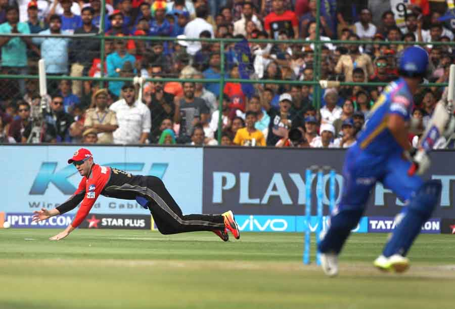 AB De Villiers Of Royal Challengers Bangalore During An IPL 2018 Match Between Rajasthan Royals And