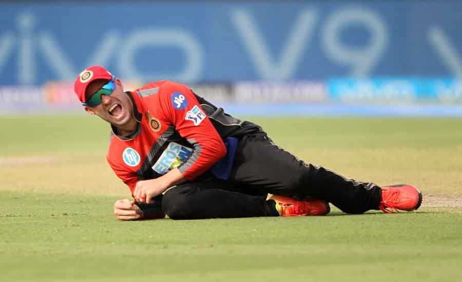 AB De Villiers Of Royal Challengers Bangalore During An IPL 2018 Match Between Rajasthan Royals And  in Hindi