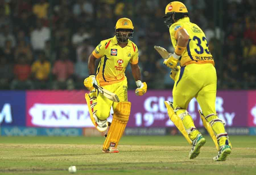 Ambati Rayudu Of Chennai Super Kings In Action During An IPL 2018 Match Between Chennai Super Kings
