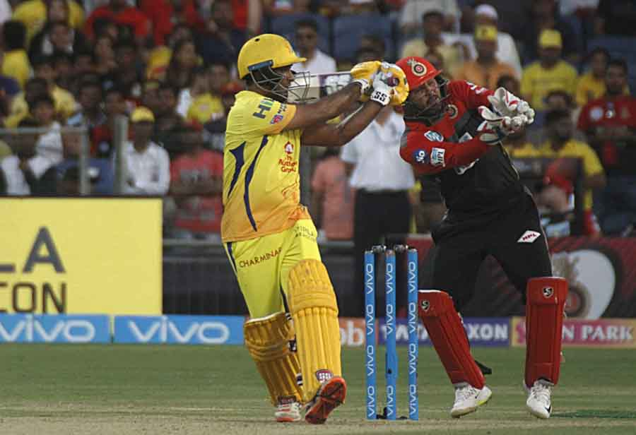 Ambati Rayudu Of Chennai Super Kings In Action During An IPL 2018 Images