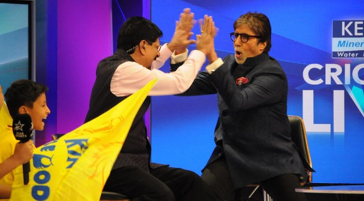 Amitabh Bachchan  Srikkanth Images in Hindi