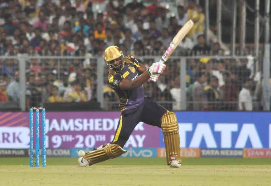 Andre Russell Of Kolkata Knight Riders In Action During An IPL 2018 Images in Hindi