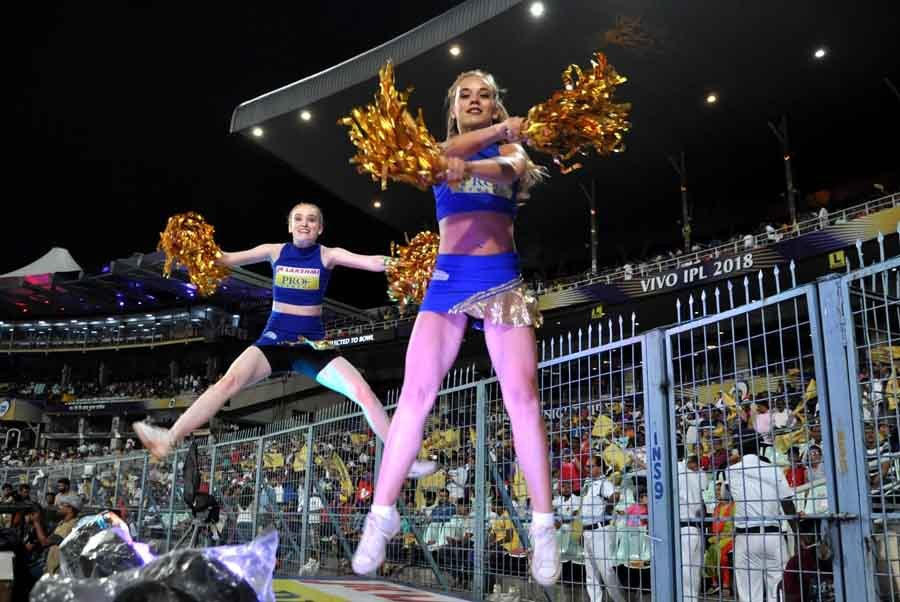 Cheer Leaders During An IPL 2018 Match Between KKR Vs RR, At The Eden Gardens In Kolkata Images in Hindi