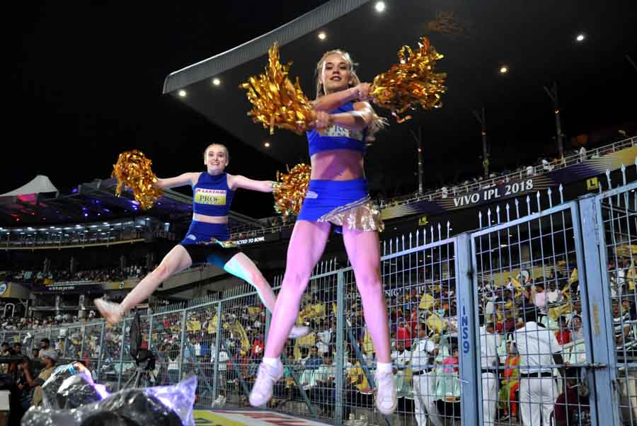 Cheer Leaders During An IPL 2018 Match Between KKR Vs RR, At The Eden Gardens In Kolkata Images