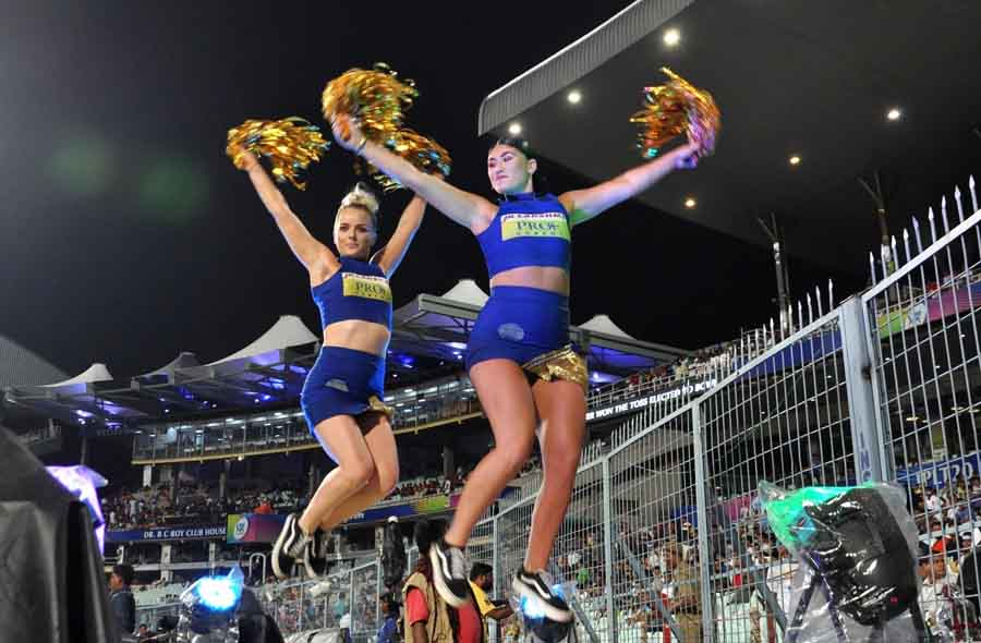 Cheer Leaders During The Eliminator Match Of IPL 2018 Match Images