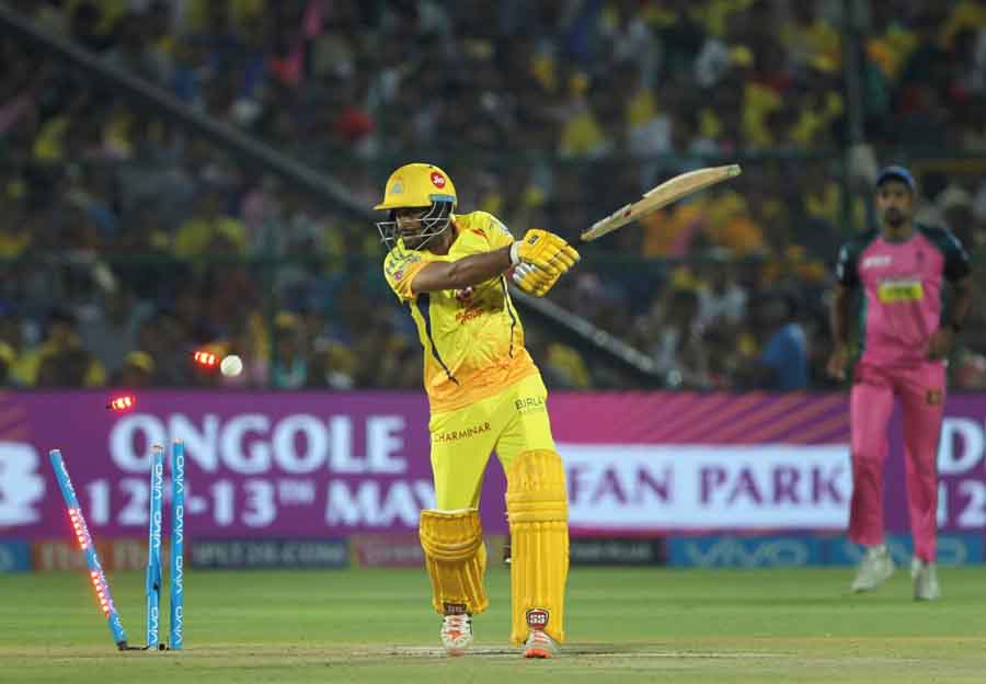 Chennai Super Kings Ambati Rayudu Gets Dismissed During An IPL 2018 Images in Hindi