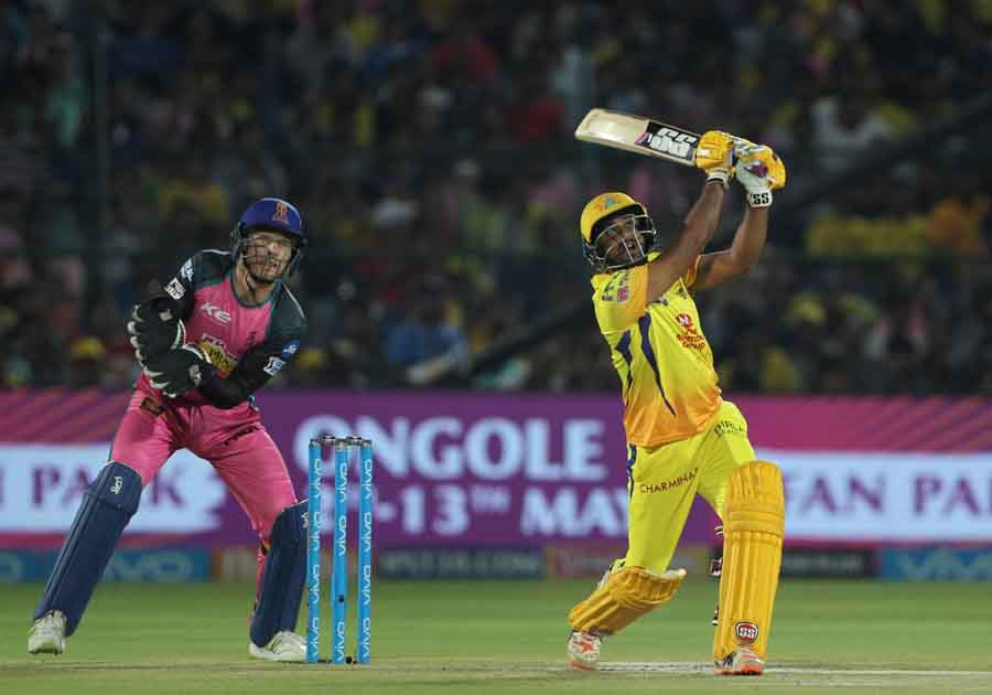 Chennai Super Kings Ambati Rayudu In Action During An IPL 2018 Images in Hindi