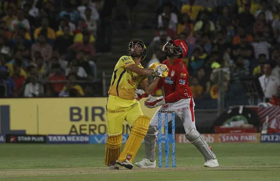 Chennai Super Kings Deepak Chahar In Action During An IPL 2018 Match Images