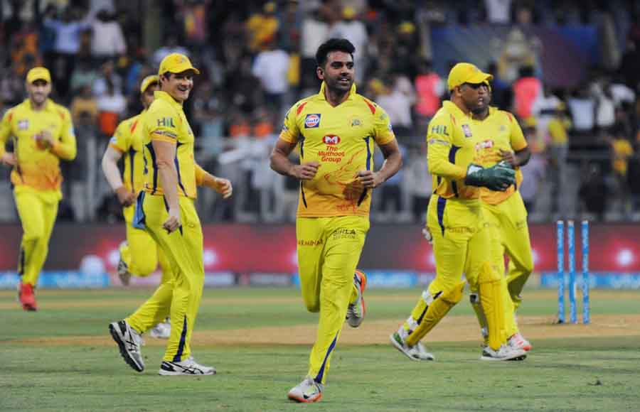 Chennai Super Kings Faf Du Plessis In Action During The First Qualifier Match Of IPL Match 2018 Imag