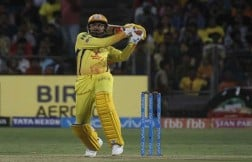 Chennai Super Kings Harbhajan Singh In Action During An IPL 2018 Match Images
