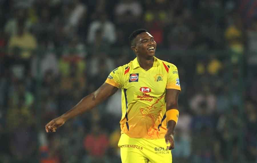 Chennai Super Kings Lungisani Ngidi Celebrates Fall Of Rishabh Pants Wicket During An IPL 2018 Match