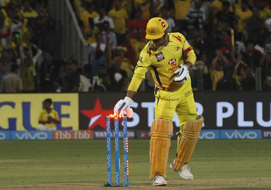 Chennai Super Kings MS Dhoni Celebrates After Wining An IPL Match 2018 Images
