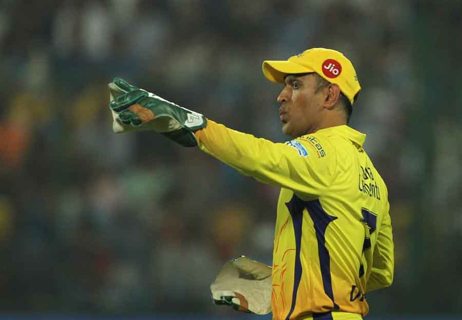 Chennai Super Kings MS Dhoni During An IPL 2018 Match Between Chennai Super Kings And Delhi Daredevi
