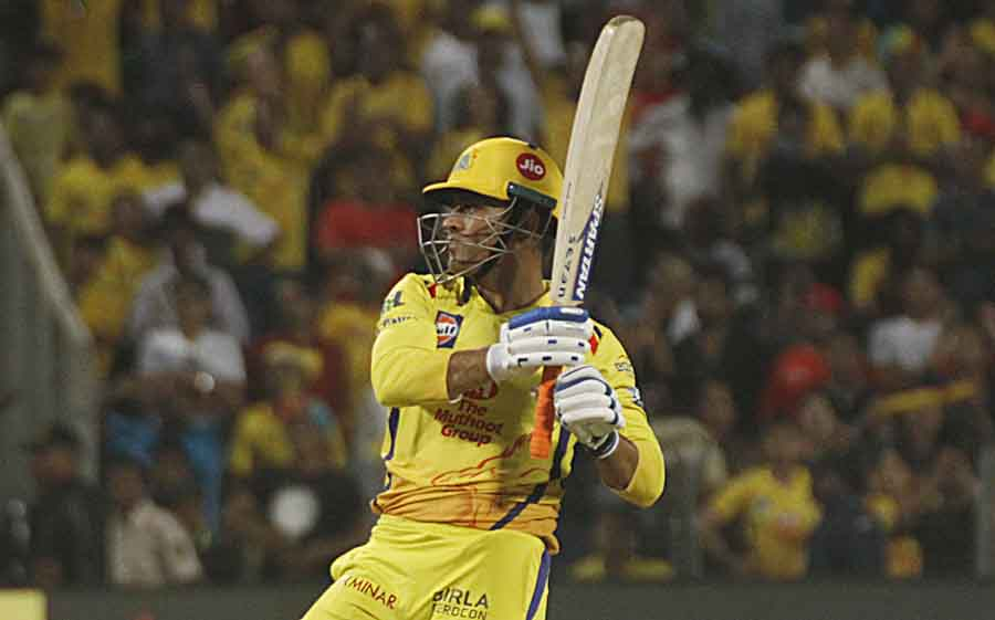 Chennai Super Kings MS Dhoni In Action During An IPL 2018 Match Images in Hindi