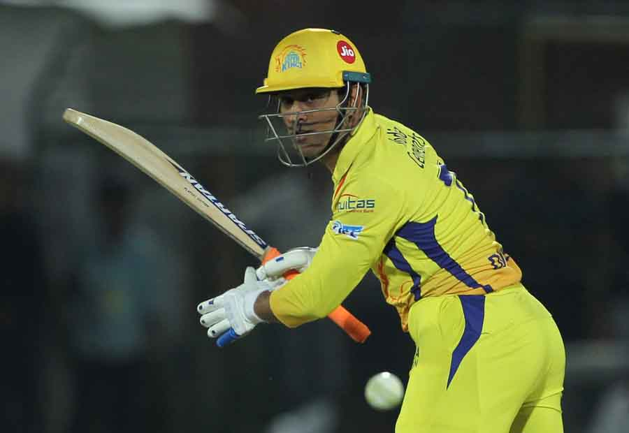 Chennai Super Kings MS Dhoni In Action During An IPL 2018 Images in Hindi