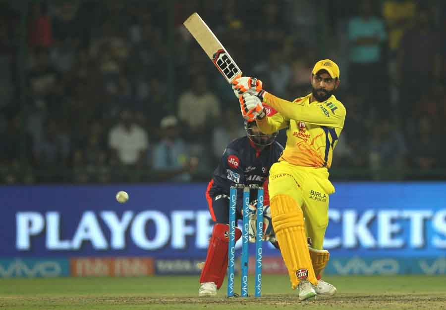 Chennai Super Kings Ravindra Jadeja In Action During An IPL 2018 Match Between Chennai Super Kings A