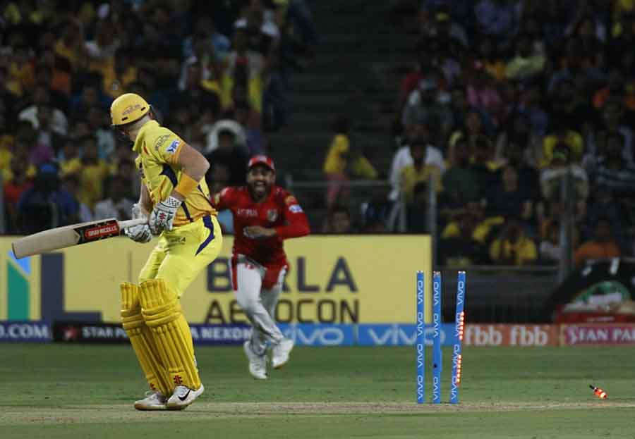 Chennai Super Kings Sam Billings Gets Dismissed During An IPL 2018 Images