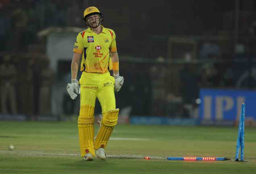 Chennai Super Kings Sam Billings Reacts After Getting Dismissed During An IPL 2018 Images