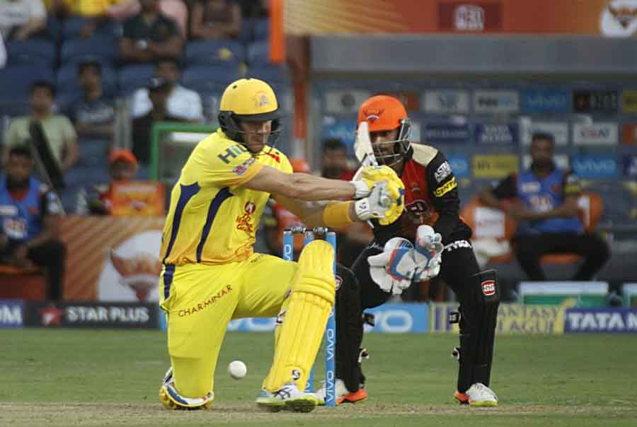 Chennai Super Kings Shane Watson In Action During An IPL 2018 Images