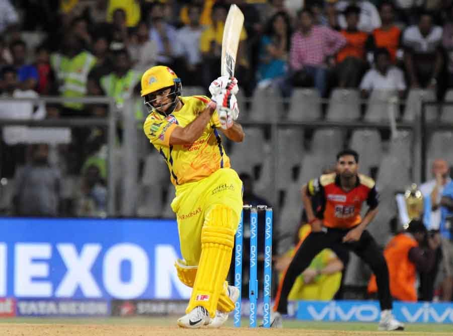 Chennai Super Kings Shardul Thakur In Action During The First Qualifier Match Of IPL 2018 Match Imag in Hindi
