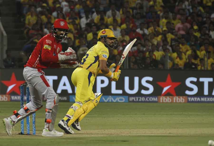 Chennai Super Kings Suresh Raina In Action During An IPL 2018 Match Images