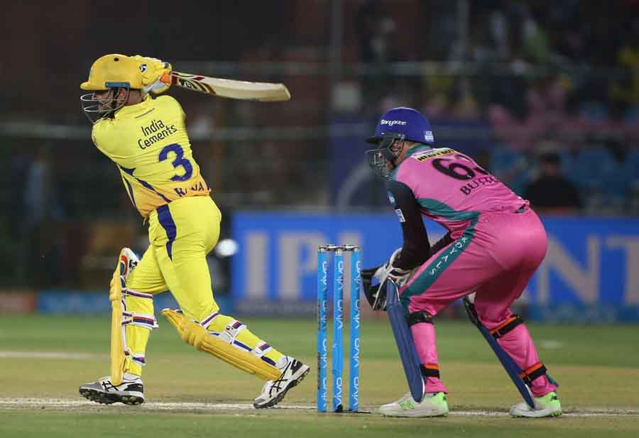 Chennai Super Kings Suresh Raina In Action During An IPL 2018 Images