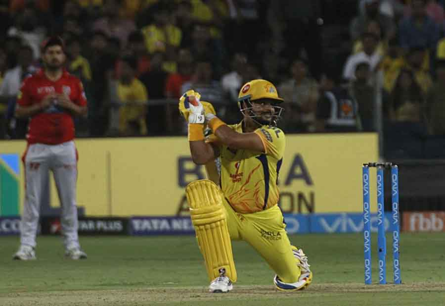 Chennai Super Kings Suresh Raina In Action During An IPL Match 2018 Images