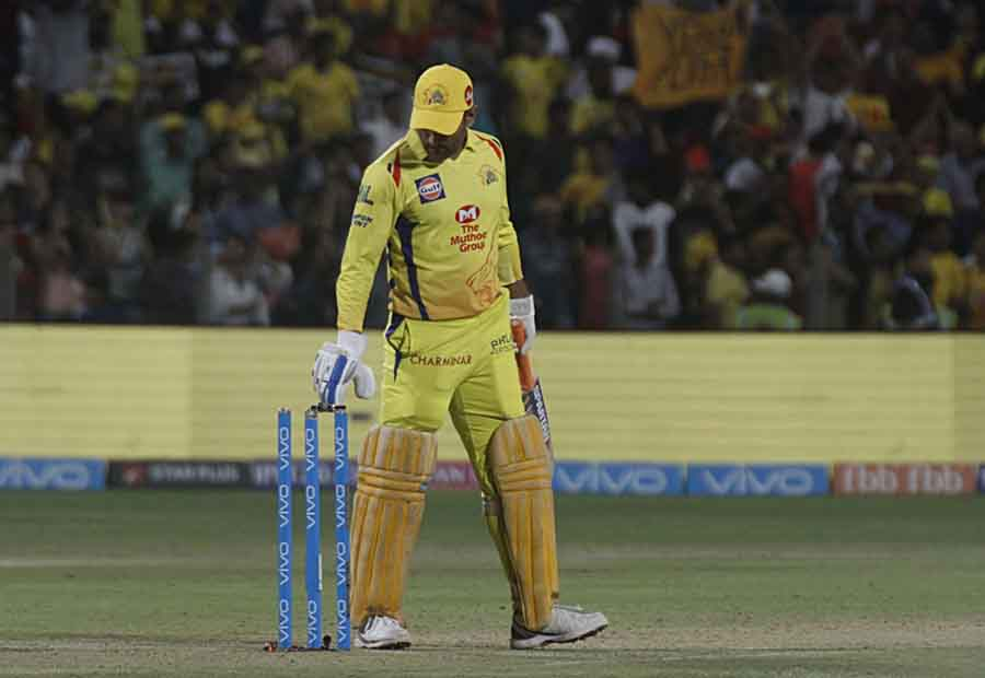 Chennai Super Kings Captain MS Dhoni After Winning An IPL 2018 Match Images