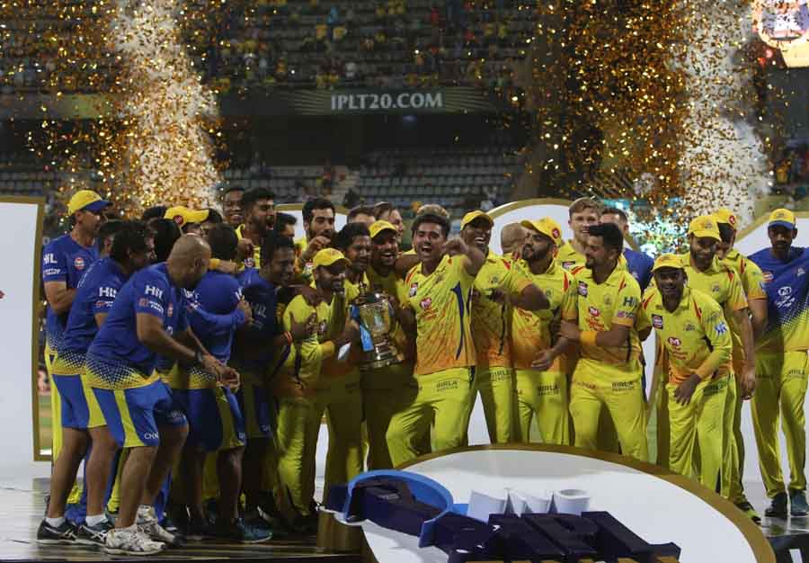 Chennai Super Kings Celebrate After Winning IPL 2018 At Wankhede Stadium In Mumbai On May 27 2018 Im in Hindi