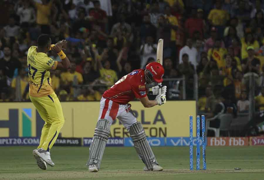 David Miller Of Kings XI Punjab Gets Dismissed During An IPL Game 2018 Images in Hindi