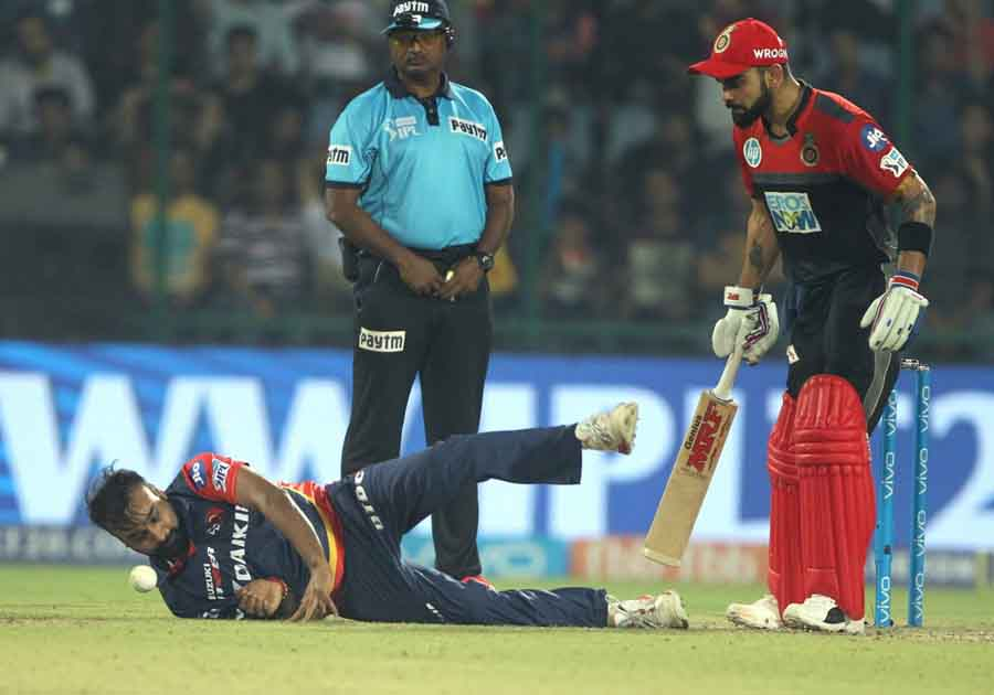 Delhi Daredevils Amit Mishra During An IPL 2018 Images in Hindi