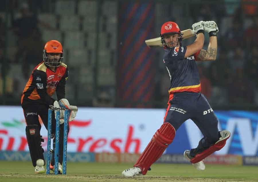Delhi Daredevils Jason Roy In Action During An IPL Match 2018 Images in Hindi