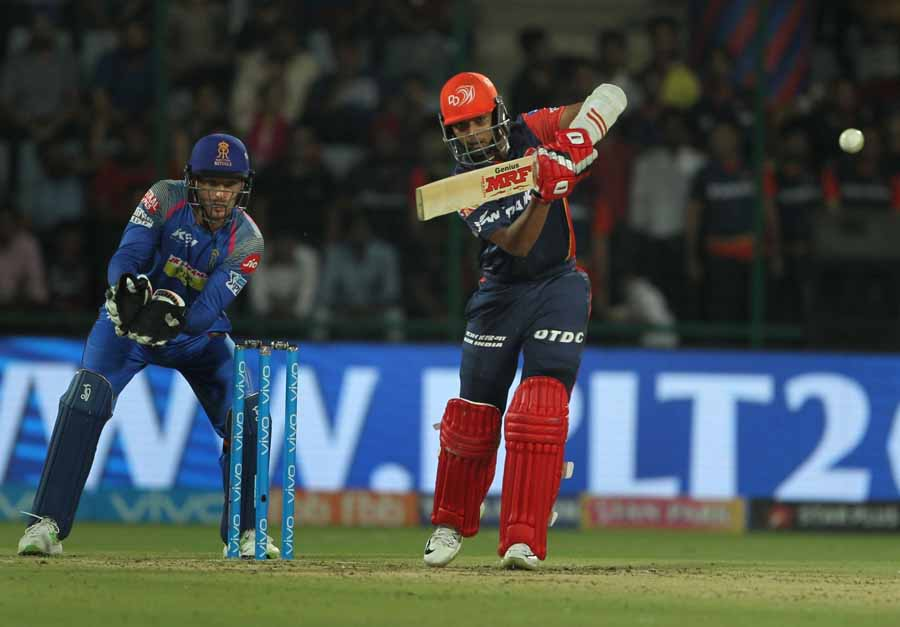 Delhi Daredevils Prithvi Shaw In Action During An IPL 2018 Images