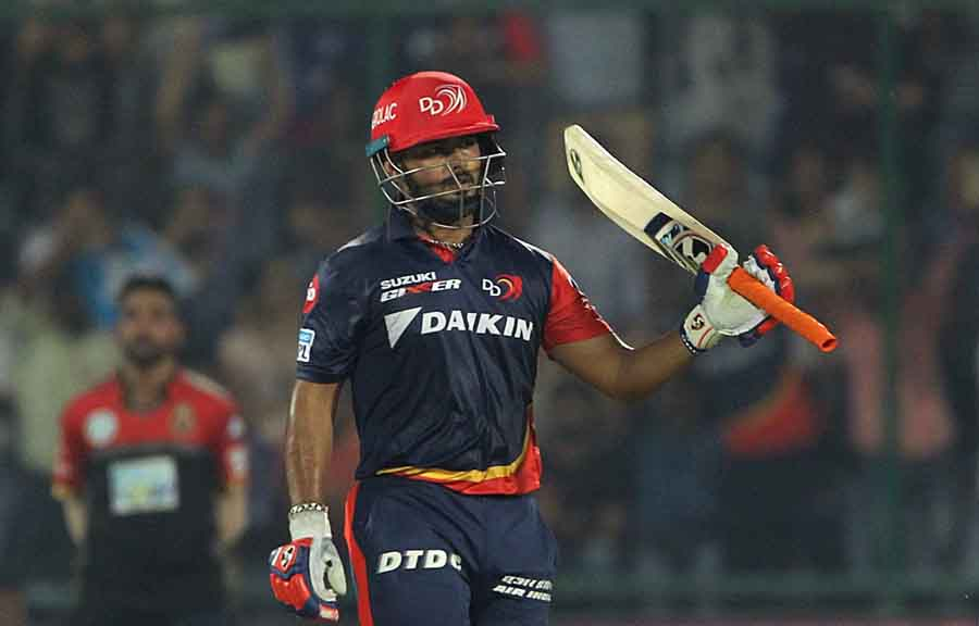 Delhi Daredevils Rishabh Pant Celebrates His Half Century During An IPL 20181 Images in Hindi