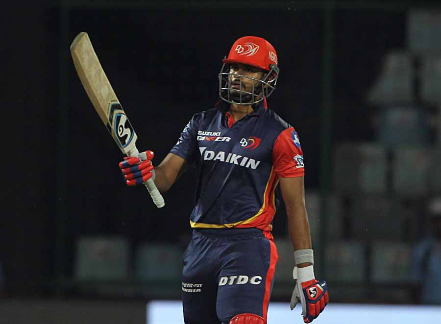 Delhi Daredevils Shreyas Iyer Celebrates His Half Century During An IPL 2018 Images