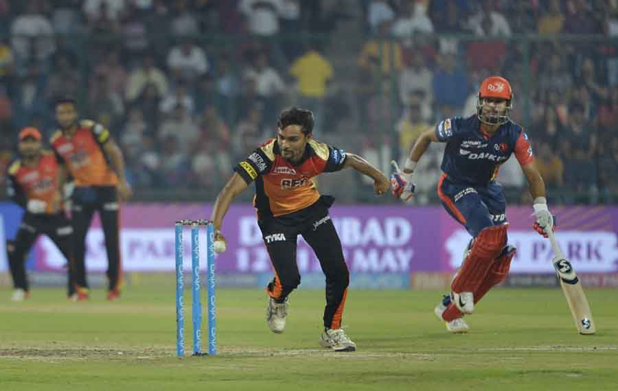 Delhi Daredevils Shreyas Iyer Gets Dismissed During An IPL 2018 Images