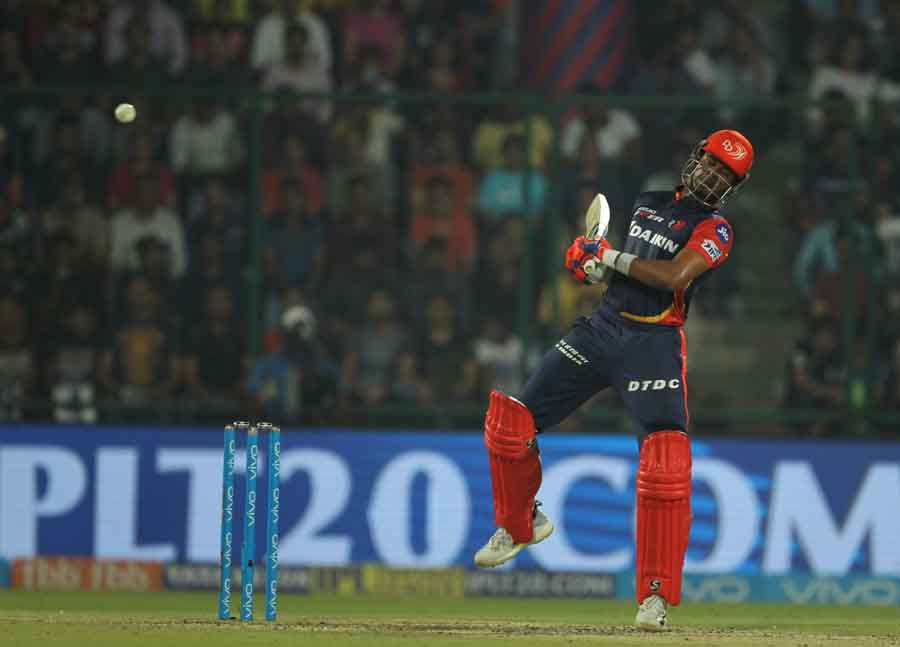 Delhi Daredevils Shreyas Iyer In Action During An IPL 2018 Images
