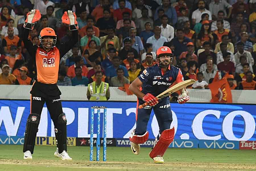 Delhi Daredevils Vijay Shankar In Action During An IPL 2018 Images