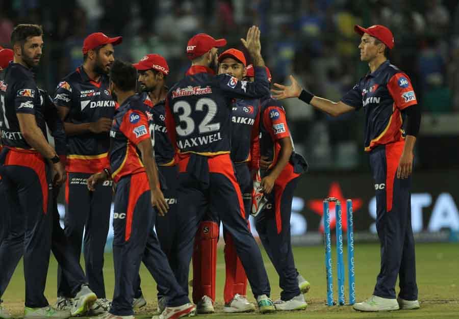 आईपीएल 2018 जीतने के बाद दिल्ली डेयरडेविल्स फोटो