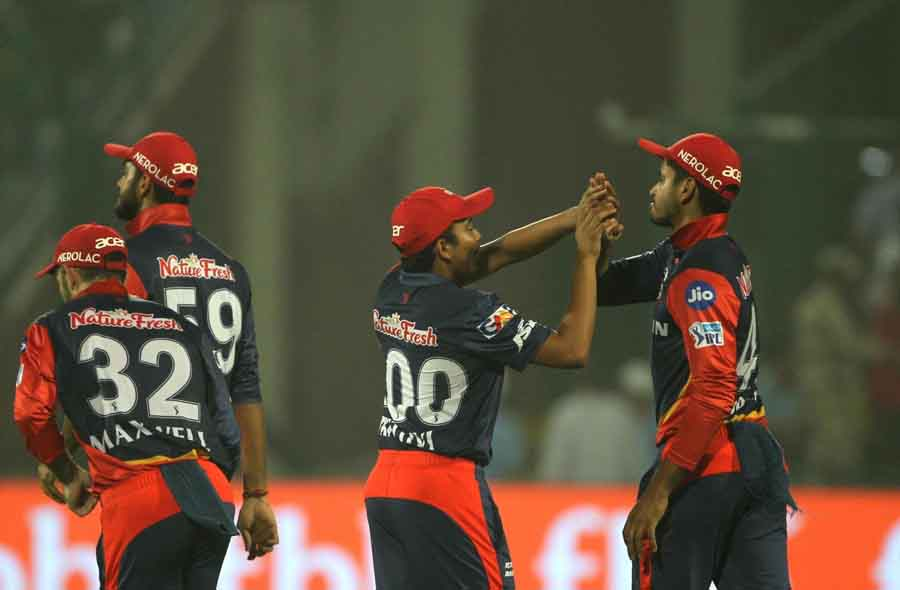 Delhi Daredevils Celebrate Fall Of MS Dhonis Wicket During An IPL 2018 Match Between Chennai Super K in Hindi