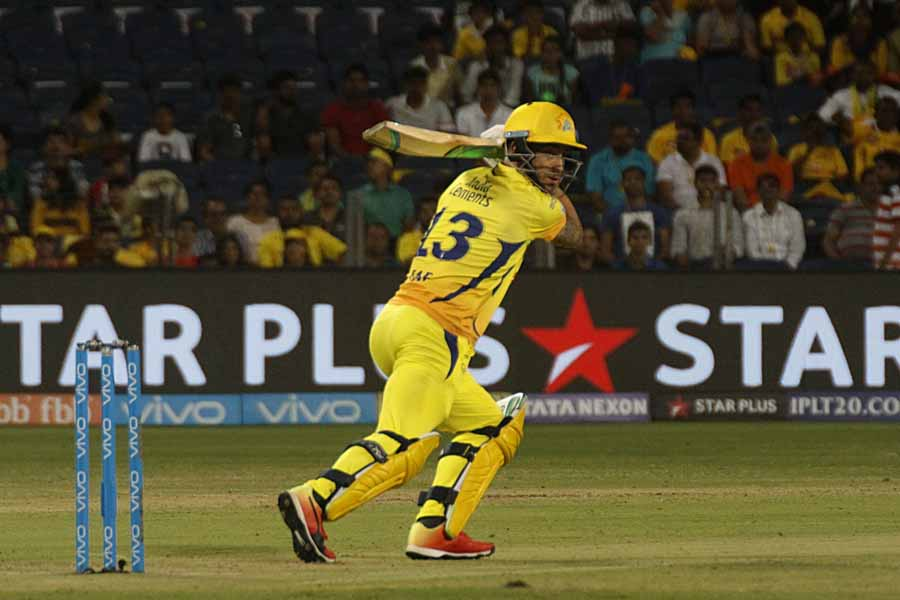 Faf Du Plessis Of Chennai Super Kings In Action During An IPL 2018 Images