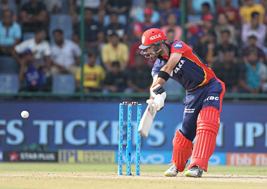 Glenn Maxwell Of Delhi Daredevils In Action During An IPL 2018 Images