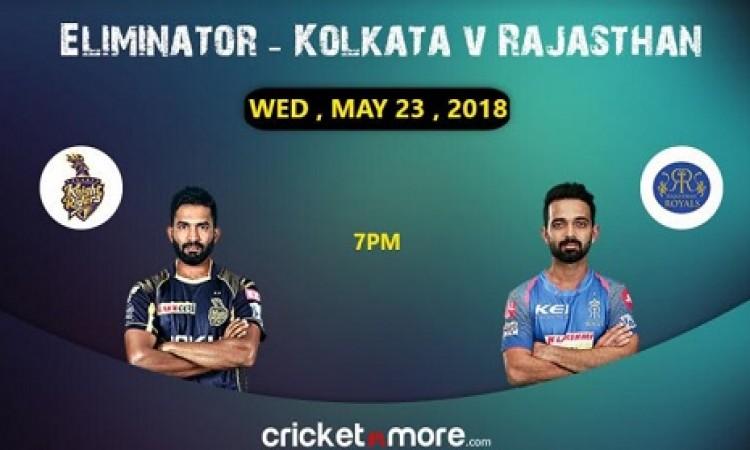 IPL क्वालीफायर 2: केकेआर और राजस्थान रॉयल्स के बीच आर- पार की लड़ाई, जानिए प्लेइंग इलेवन Images
