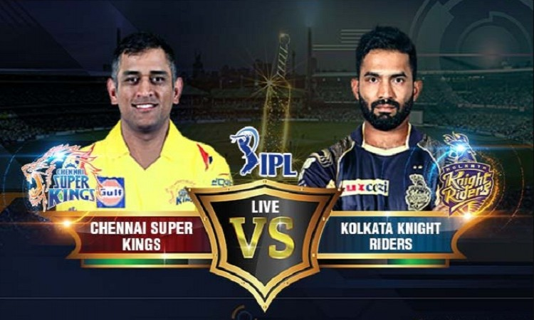 Kolkata Knight Riders won the toss and elected to field against CSK