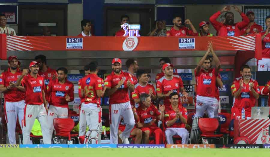 Kings XI Punjab Players Celebrate After Winning An IPL 2018 Images in Hindi