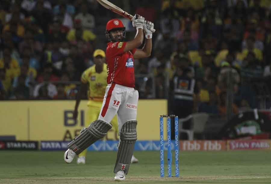 Kings XI Punjabs Karun Nair In Action During An IPL 2018 Match Images in Hindi